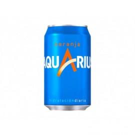 Aquarius Bebida Isotónica de Naranja Lata 330ml pack 8