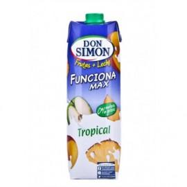 Don Simon Zumo de Frutas y Leche Tropical Funciona Brik 1l