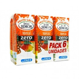Don Simon Zumo de Frutas y Leche Tropical Zero Pack 6x200ml