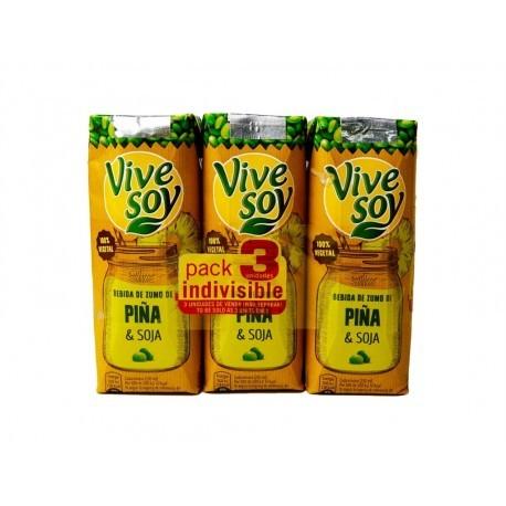 Pascual Zumo de Piña y Soja ViveSoy Pack 3x250ml