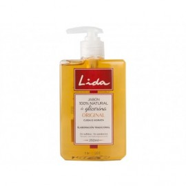 Lida 100% natural hand soap with glycerin 250 ml pump