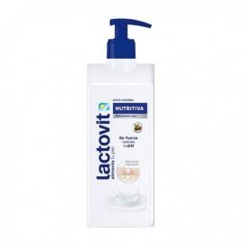 Pflegende Körpermilch Normale trockene Haut Lactovit 400 ml Pumpe