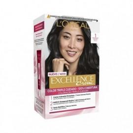 L' ORÉAL Excellence Creme No.1 Black hair coloring Box 1 unit