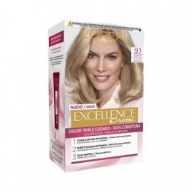 L' ORÉAL Excellence Creme No 9.1 Light ash blonde hair color Box 1 unit