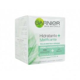 Crème pour le visage hydratante + matifiante pour peaux mixtes Garnier bouteille de 50 ml