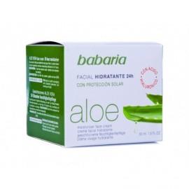 Babaria Crema Facial Hidratante Aloe con Protección Solar Bote 50ml