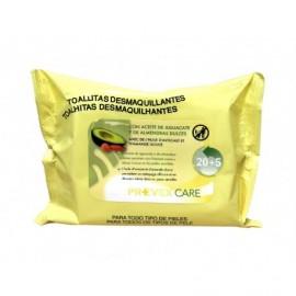 Avocadoöl Make-up Entferner Tücher Prevex pack 25 Einheiten