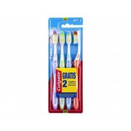 Colgate Cepillo Dental Medio Extra Clean Blister 2ud (+2 Gratis)