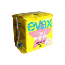 Evax Compresas Fina y Segura Normal con Alas Bolsa 12ud
