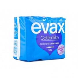 Evax Compresas Cottonlike Superplus con Alas Bolsa 10ud