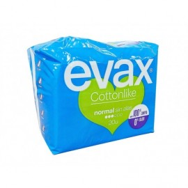 Evax Normal cotton pads without wings Pack 20 units