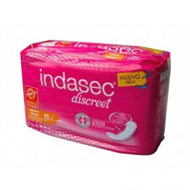 Maxi-Inkontinenz-Pads Indasec pack 15ud