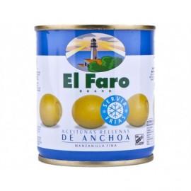 El Faro Tin 200g Manzanilla olives stuffed with anchovy