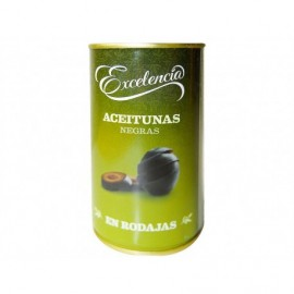 Excelencia 150ml glass jar Sliced ??black olives