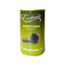 Excelencia Geschnittene schwarze Oliven 150 ml Glas