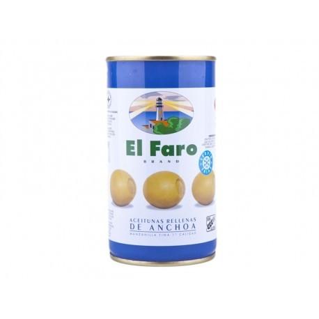 El Faro Tin 350g Manzanilla Fine Olive stuffed with anchovy