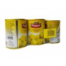 Fruyper Olives Manzanilla farcies à l'anchois Pack 3x50g