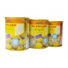 Picaro Olives farcies à l'anchois Pack 3x50g
