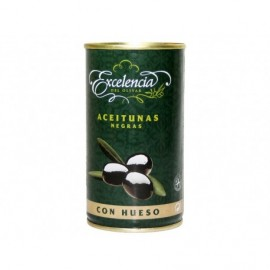 Excelencia Tin 200g Black olives with pits