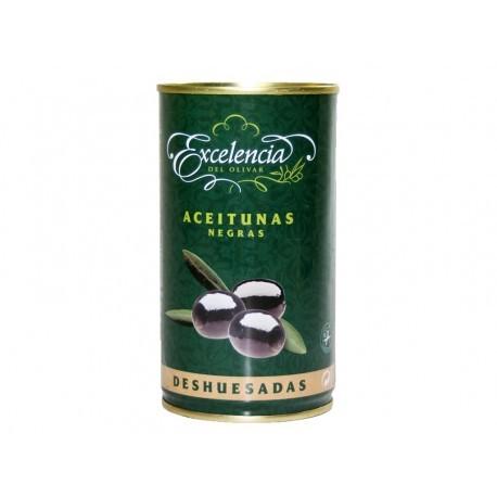 Excelencia Aceituna Negra sin Hueso Lata 350g
