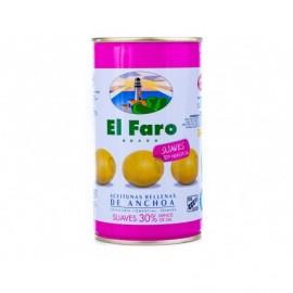 El Faro Aceituna Rellena Suave Reducida en Sal Lata 350g