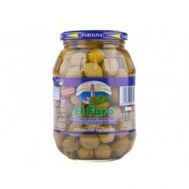 El Faro Olives Manzanilla noyaux saveur anchois Pot en verre 370g