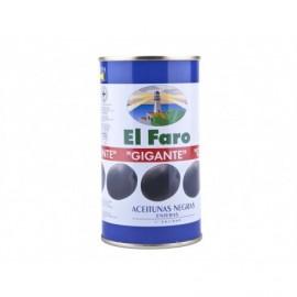 El Faro Tin 350g Whole black olive