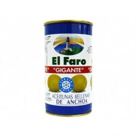 El Faro Olives géantes farcies aux anchois Conserve 350g