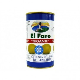 El Faro Tin 350g Giant olives stuffed with anchovies