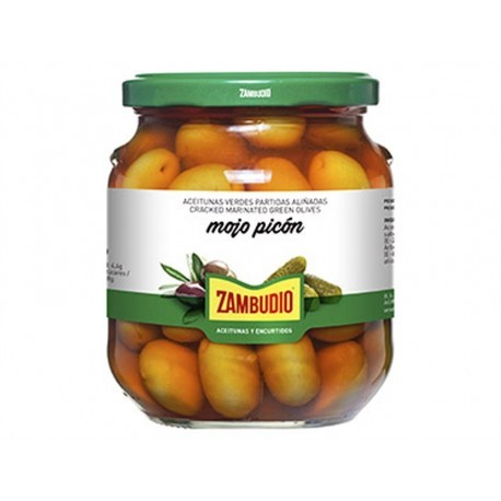 Zambudio Aceitunas Verdes Aliñadas Mojo Picón Tarro 300g
