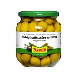 Zambudio 350g glass jar Manzanilla Olives Anchovy Flavor