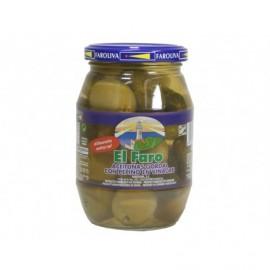 El Faro Olive Gordal mit Gurken 370 g Glas