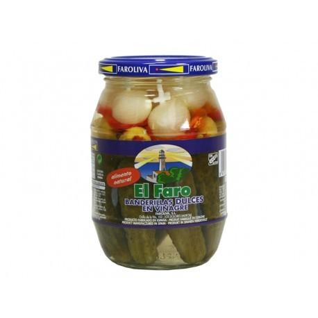 El Faro 370g glass jar Sweet banderillas
