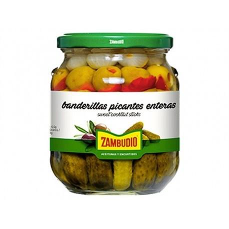 Zambudio 300g glass jar Spicy banderillas