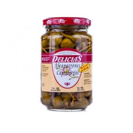 Delicias 180g glass jar Capers in vinegar