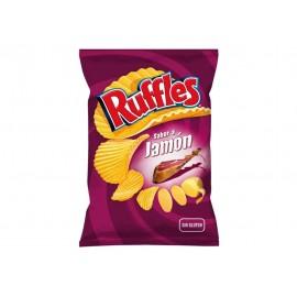 Matutano Patatas Fritas Ruffles Jamón Bolsa 160g