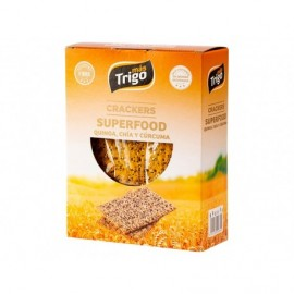 Mástrigo Crackers Superfood Quinoa, Chía y Curcuma Caja 240g