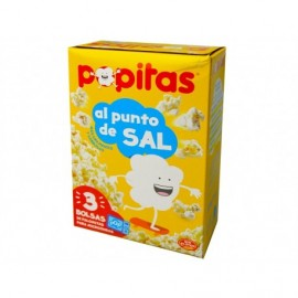 Borges 3x100g box Popcorn salted popitas