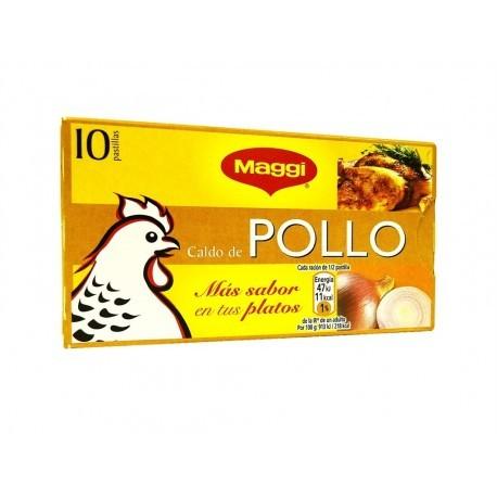 Maggi Caldo de Pollo Caja 10 Pastillas