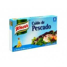 Knorr Caldo de Pescado con Aceite de Oliva Virgen Extra Caja 8 pastillas 80g