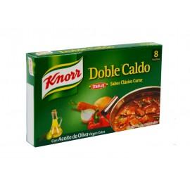 Knorr Caldo Sabor Carne con Aceite de Oliva Virgen Extra Caja 8 Pastillas 80g