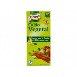 Knorr Caldo Vegetal con Aceite de Oliva Virgen Extra Caja 12 Pastillas
