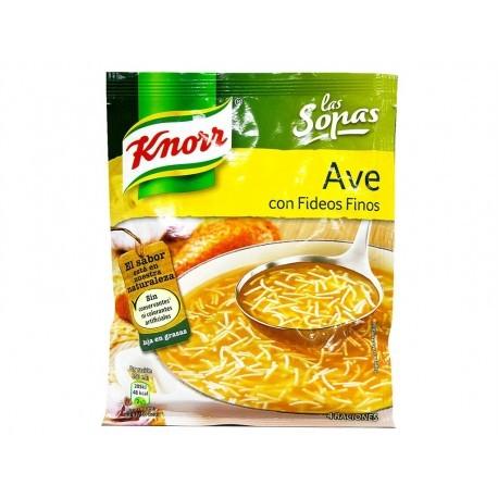Knorr Sopa de Ave con Fideos Finos Sobre 61g