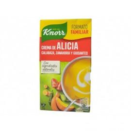 Knorr Crema Alicia con Calabaza, Zanahoria y Guisantes Brik 1l