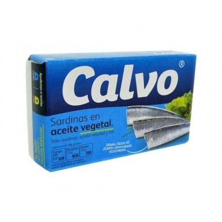 Calvo Sardinas en Aceite Vegetal Lata 84g