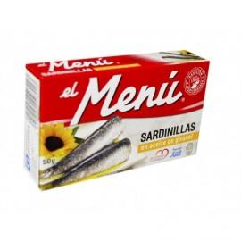 El Menú Sardinillas en Aceite de Girasol Lata 90g