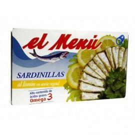 El Menú Keeps 90g Sardines with lemon in sunflower oil