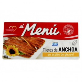 El Menú Filetti di acciughe in olio di girasole Scatola 45 g
