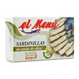 El Menú Keeps 90g Sardines in olive oil Omega3