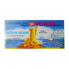 Torre Rocillo Anchoas en Aceite de Girasol Lata 50g